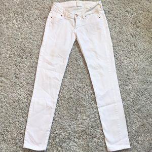 Skinny Low Waist white jeans